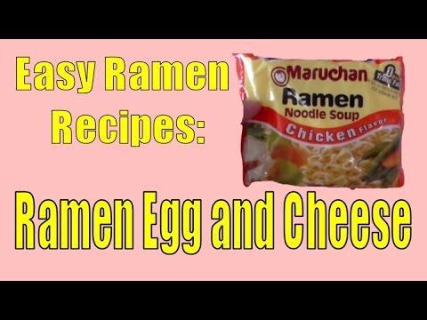 Easy Ramen Recipes - Ramen Egg and Cheese