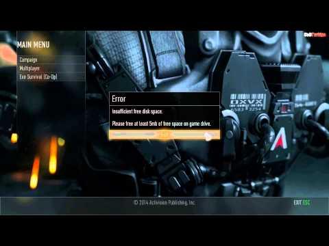 Call of Duty Advanced Warfare Insufficient Free Disk Space Error