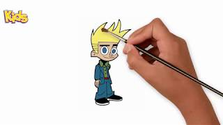 How To Draw Johnny Test - Coloring Book Johnny Test - Coloring For Kids - Learn Videos