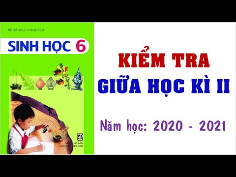👍👍👍Đề thi giữa học kì 2 môn SINH HỌC lớp 6 năm học 2020 - 2021 (Giải chi tiết)💗💗💗