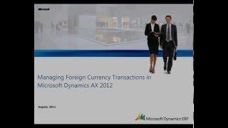 Microsoft Dynamics AX: إدارة المعاملات بالعملات الأجنبية
