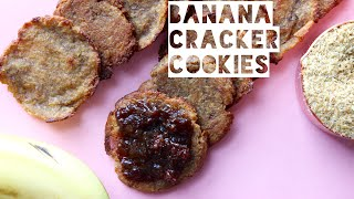Healthy Peanut Butter Cookie Crackers Recipe | How To Make Low Calorie Peanut Butter Cookie Crackers