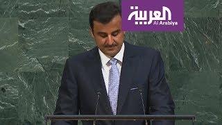 أمير قطر يناقض نفسه مجددا