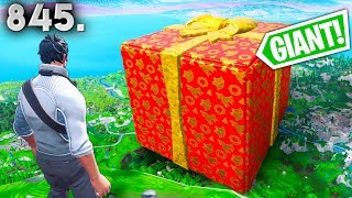 WTF! GIANT SURPRISE PRESENT! - Fortnite Funny WTF Fails and Daily Best Moments Ep. 845