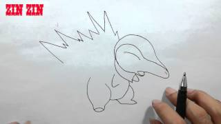 Drawing for children - Drawing pokemon mystery dungeon cyndaquil