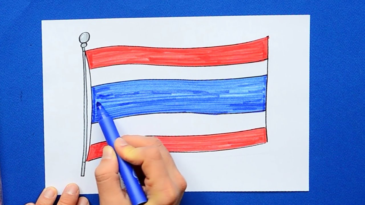 How to draw National Flag of Thailand