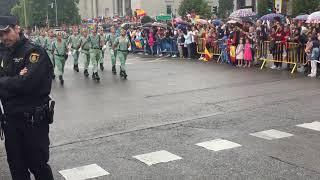La Legión en la Fiesta Nacional de España el 12 Octubre de 2018.