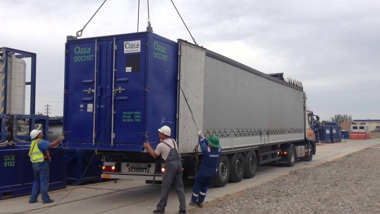 Опрокидыватель 20- футовых контейнеров A-WARD для загрузки .