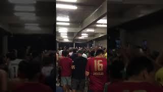 ブラジル マラカナンにてサッカーの試合後
