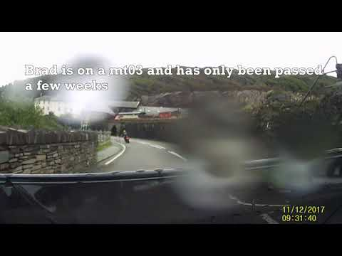 Triumph Street Triple and MT03 ride through welsh mountains with a slow puncher