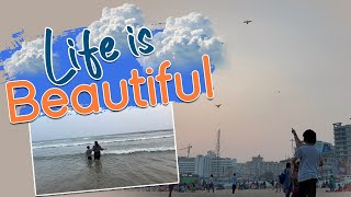 Happy Beach Day | Who can control reactions & Love On Sea Water | Kites| Vlog | Sushma Kiron