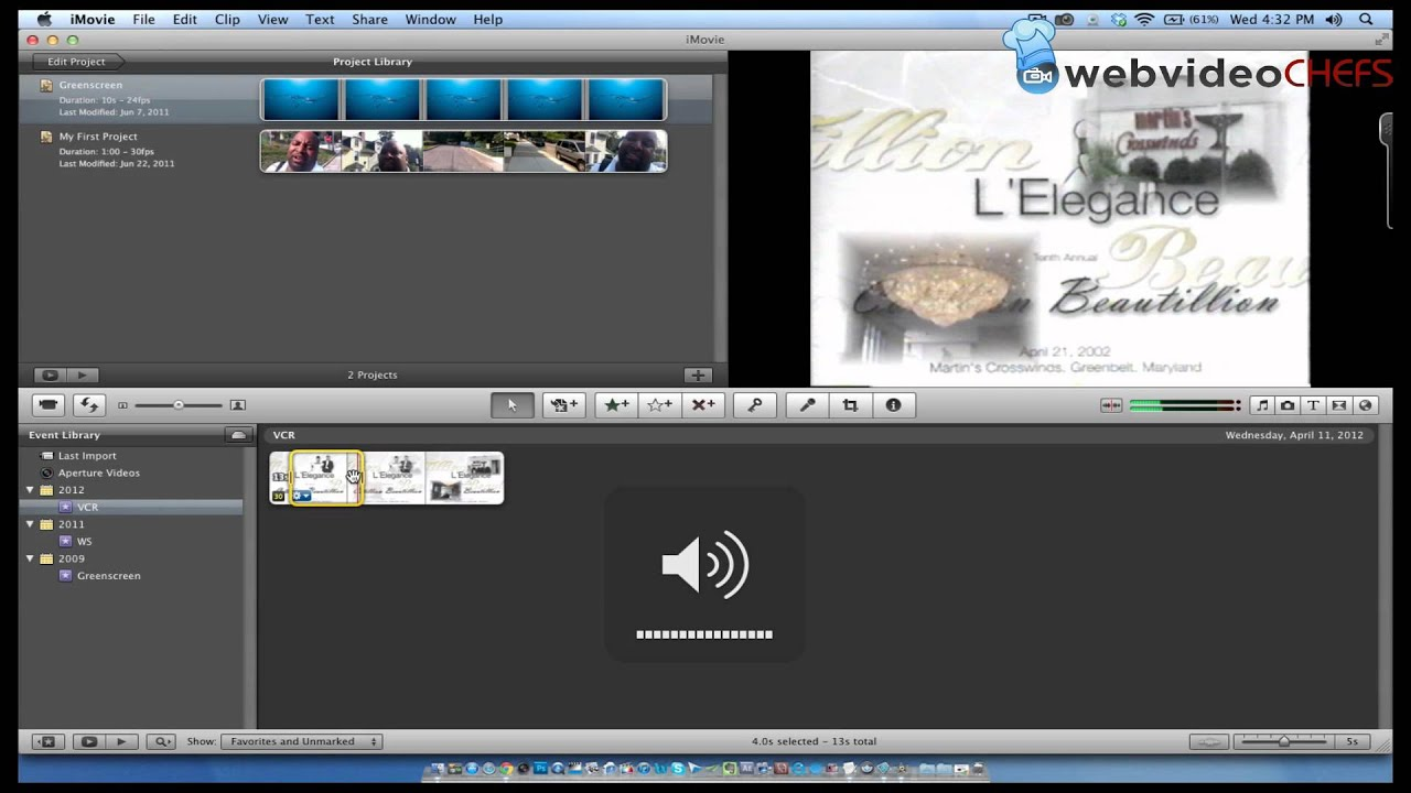 How to convert VHS tapes using iMovie