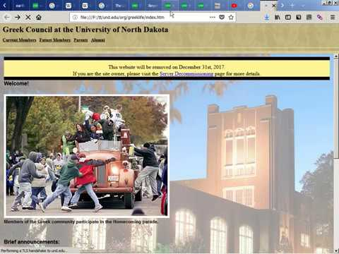 2017-12-31 -- Und.edu Archiving Of Old Webpages With ArchiveTeam