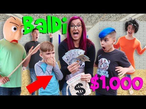 Last To Leave Baldi's School House Wins $1,000!