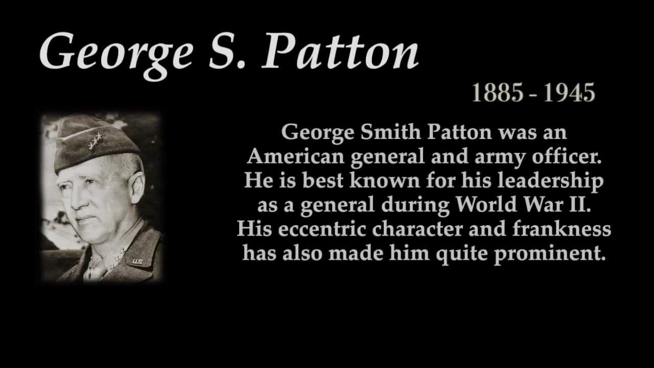 The General Quote Interesting George Spatton  Top 10 Quotes  Youtube