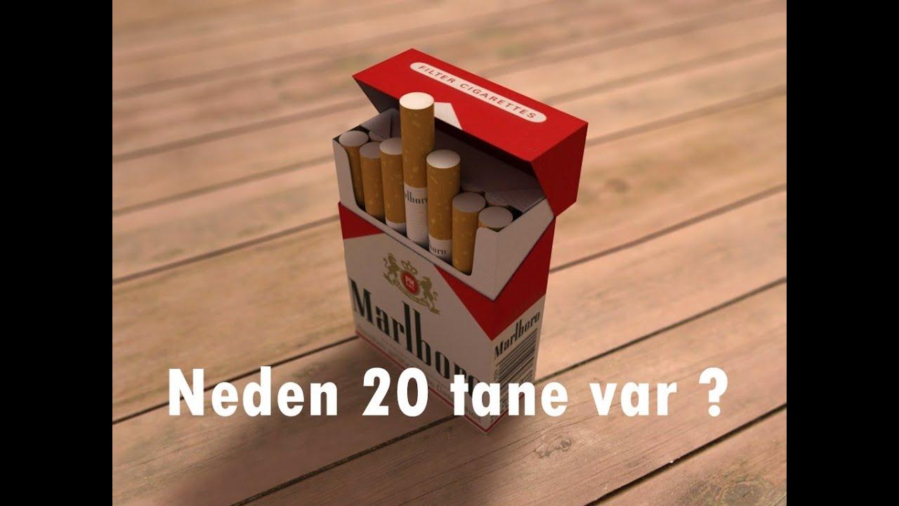 Sigarada neden 20 adet var ? Tesadüf değil