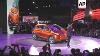 General Motors CEO Mary Barra has introduced the Chevrolet Bolt at the Detroit Auto Show. GM says th