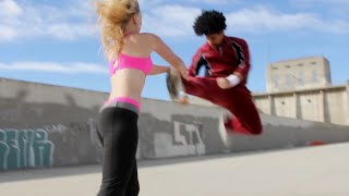 Boxing Girl vs Martial Arts Guy | Action Movie Scene