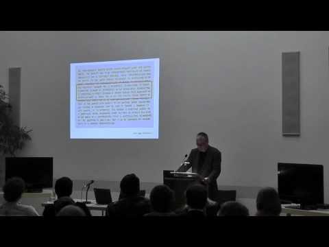 """8 - Technik und Poetik - Volker Straebel (Berlin):  """"'In a state of conversation.'..."""""""