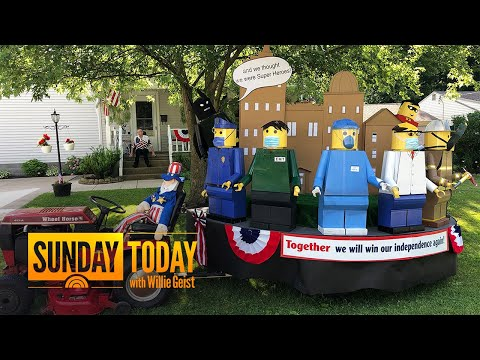 Man Builds Fourth Of July Float Dedicated To Health Care Workers | Sunday TODAY
