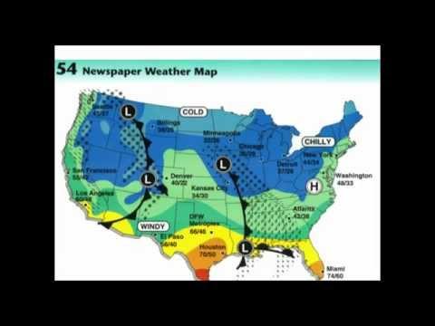 V. 52 Weather Map Symbols