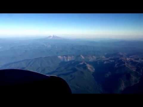 """Icelandair Boeing 757-200 """"Magni"""" Keflavik to Portland KEF-PDX Landing Cascade Mountains View HD"""