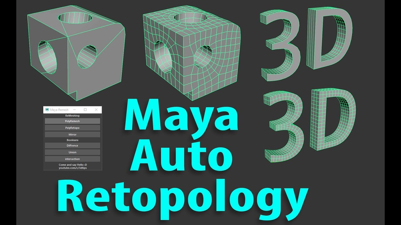 Auto retopology comes to maya