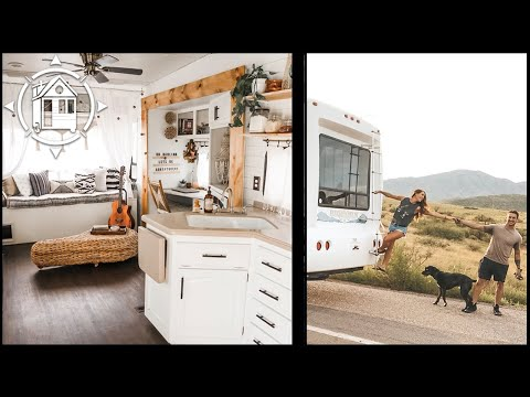 Couple Renovates RV as a Nomadic Tiny Home for Miltary Life (& it's Gorg)!