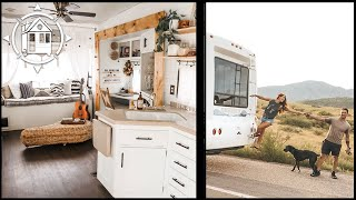 Couple Renovates RV as a Nomadic Tiny Home (& it's Gorg)!