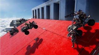 Halo 5 Guardians   ¡GUERRA DE LANCHAS Y CARROS!   Drag Race & Battle Boats