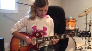 Allison jamming on the Les Paul