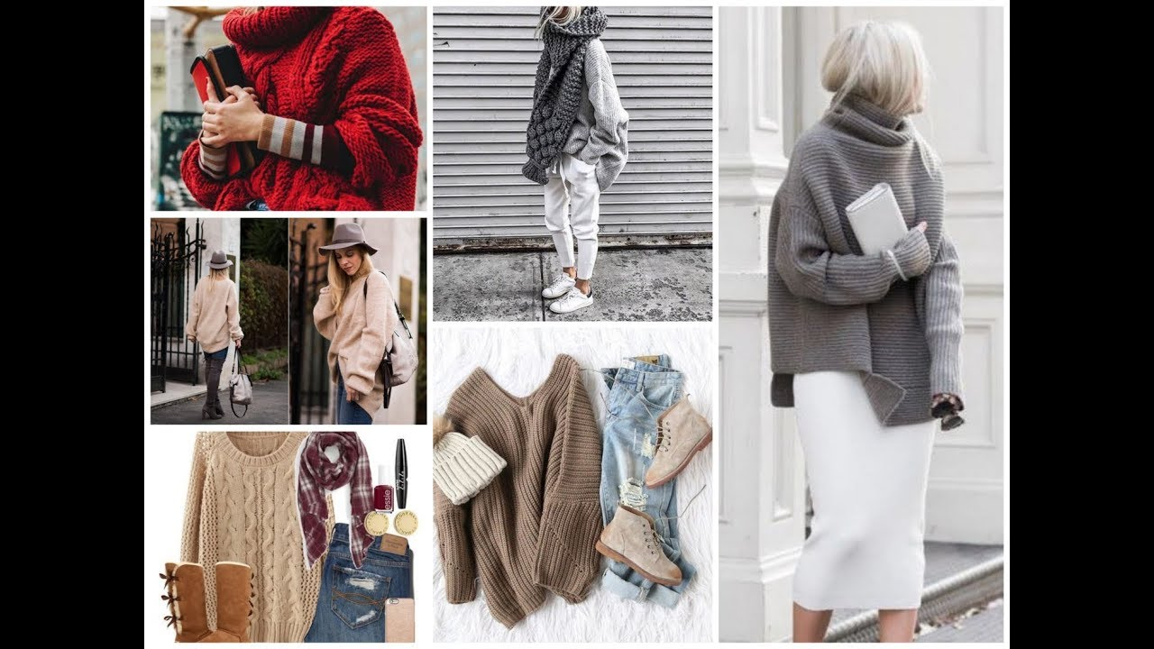 78fb213226b How To Wear Oversized Sweater - Trendy Winter Outfits Ideas 2018 \ 2019 -  YouTube