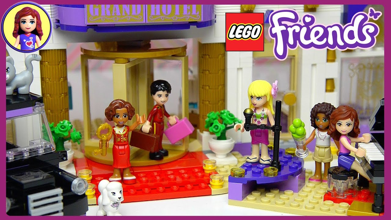 Lego Friends Heartlake Grand Hotel Set Unboxing Building Review Part