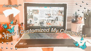 How I Customized My Chromebook! Aesthetic Computer Customization Tips! Plus Chrome Features!