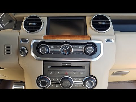 How to Remove Radio / Navigation / Display from 2012 Land Rover LR4 for Repair.