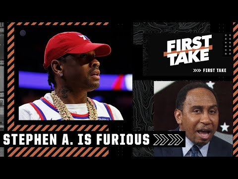 Stephen A. is FURIOUS about how Allen Iverson is treated by the 76ers | First Take