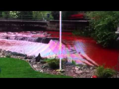 River Turns  Blood Red  In Switzerland Apocalyptic Signs
