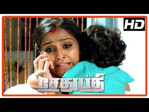 Sethupathi Tamil Movie   Scenes   Vijay Sethupathi Saves His Family From Vivek Prasanna   Remya