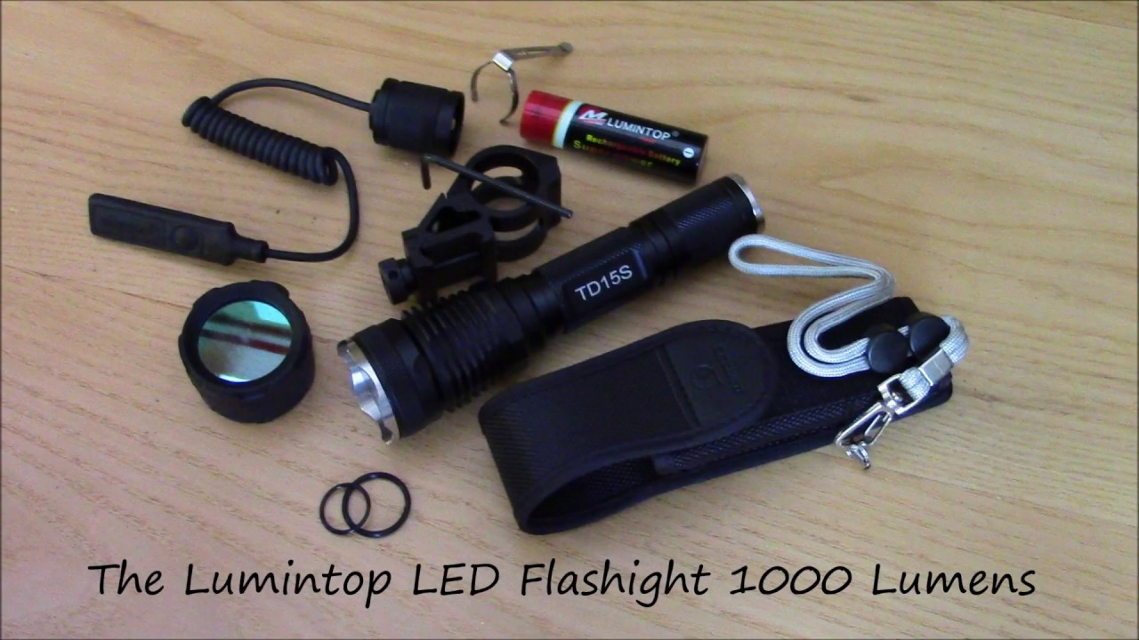 best tactical flashlight 1000 lumen led youtube. Black Bedroom Furniture Sets. Home Design Ideas