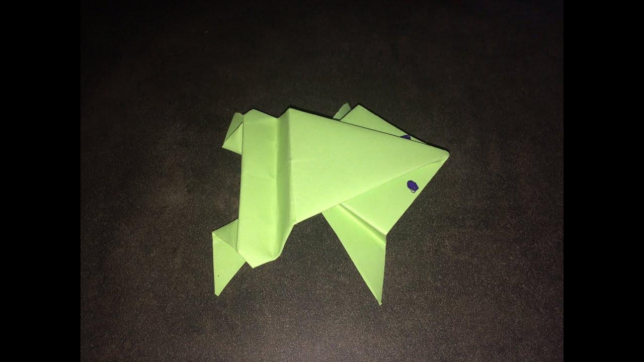 tuto origami la grenouille facile youtube. Black Bedroom Furniture Sets. Home Design Ideas