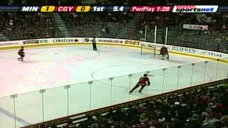 Dion Phaneuf shatters the glass twice in one period (2008)