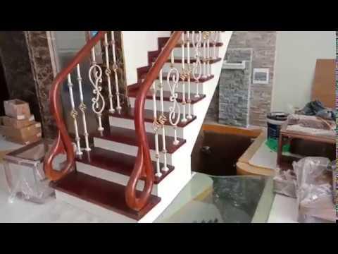 Hoàn thành thi công mẫu cầu thang sắt Nghệ Thuật Vimhome hàm nghi