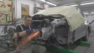 Форд Фокус, полное фиаско. Body repair after an accident.