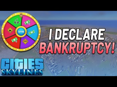City Goes BANKRUPT 4 Times! | Cities Skylines Twitch Gameplay | Mods DLC | Top 7 Spins EP#3 |