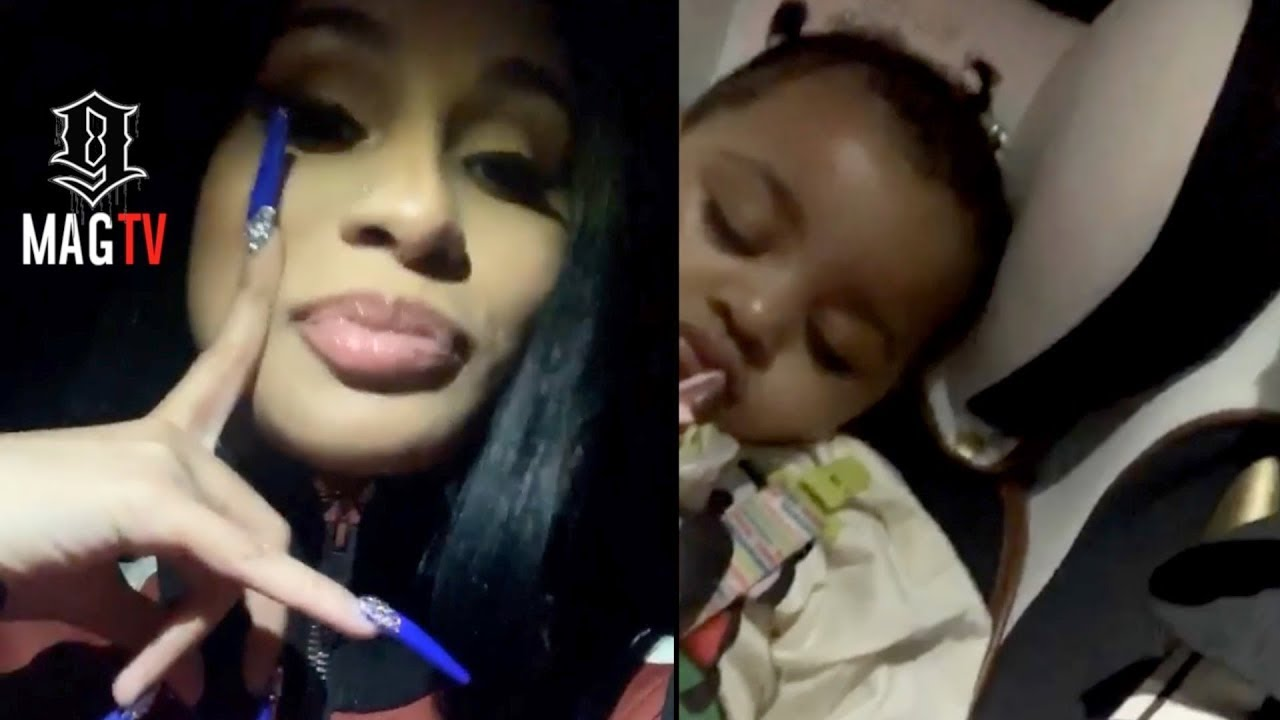 Cardi B Takes Kulture To The Studio During Mommy Duty!