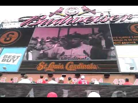 2013 cardinals opening day stan musial tribute.