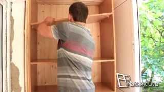 видео Встроенные шкафы на балконах