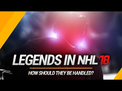 LEGENDS IN NHL 18! WHAT SHOULD THEY DO WITH THEM?! | NHL 18 THREES GAMEPLAY