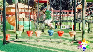 Learn colors and playing out door playground with Xavi ABCKids