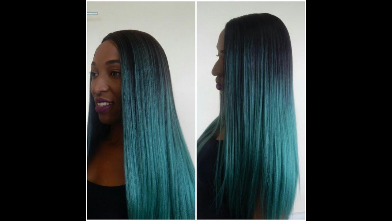 Teal Hair Dye Ombre